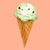 Ice cream in waffle cone Stock Image
