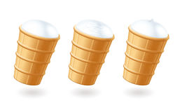 Ice cream. Waffle cup.  Royalty Free Stock Image