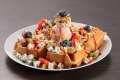 Ice cream waffle Royalty Free Stock Images