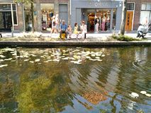 Ice cream by the water, Delft, Netherlands royalty free stock photos