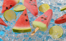 Ice cream with watermelon Royalty Free Stock Images