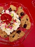 Ice cream with whipping cream Stock Image
