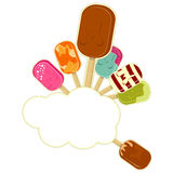 Ice Cream on white background with place for text Royalty Free Stock Images