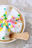 Ice cream in a white cup Stock Photography