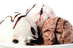 Ice Cream With Chocolate Stock Images