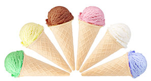 Ice Cream With Cone Stock Images