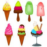 Ice creams vector illustration