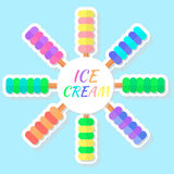 Ice creams Royalty Free Stock Images