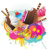 Ice creams color  design Royalty Free Stock Image