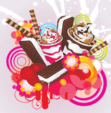 Ice creams color  design Stock Photos