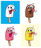 Happy cartoon character ice creams Royalty Free Stock Photo