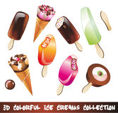 Ice Creams Icon Set Royalty Free Stock Photography