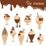 Ice-creams mix Stock Photos