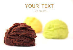 Ice creams scoops Royalty Free Stock Photography