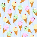 Ice creams Stock Images
