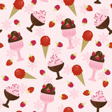 Ice creams seamless pattern Stock Photo