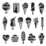 Ice creams set Stock Photography