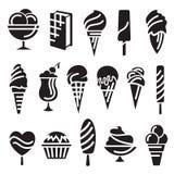 Ice creams set Stock Photography