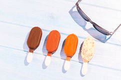 Ice creams on table Stock Image