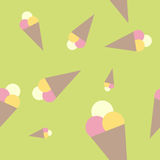 Ice crem pattern royalty free stock images