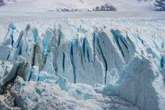 Ice crevasses on Perito Moreno Glacier in Patagonia Royalty Free Stock Photography