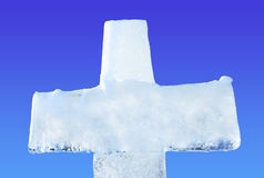 Ice cross for Baptism royalty free stock photography