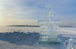 Ice cross in winter Royalty Free Stock Photos