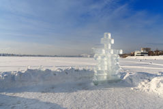 Ice cross in winter Royalty Free Stock Photo