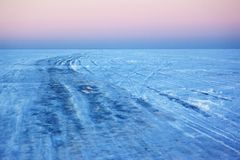 Ice crossing over Lake Royalty Free Stock Photo