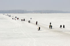 Ice crossing Royalty Free Stock Photography