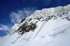 Ice crown. Majestic icefall in Kuylu region, Central Tien-Shan Stock Photos