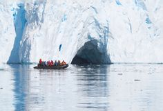 Ice cruising in Antarctica stock image