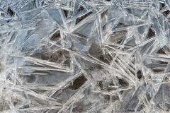 Ice crysrals texture. Close up Royalty Free Stock Images