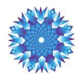 Ice crystal blue mandala vector illustration
