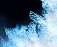 Ice crystal formations macro Stock Photo