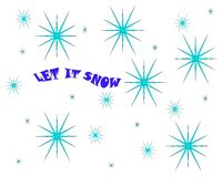 Ice crystal pattern with the message Let It Snow vector illustration