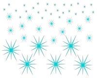 Regular ice crystal pattern on white background royalty free illustration