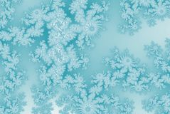 Ice crystal patterns frozen background teal color. Ice crystal patterns frozen background vector illustration