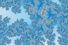 Ice crystal patterns frozen background. Ice crystal patterns frozen fractal pattern stock illustration