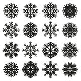 Ice crystal set Royalty Free Stock Images