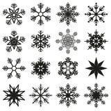Ice crystal set. Ice crystal vector illustration set royalty free illustration
