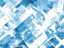 Ice crystals. Close up of 3d generated cubic ice crystals background Royalty Free Stock Photo
