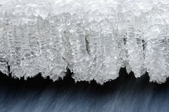 Ice crystals. Macro background of frozen ice crystals Stock Photography
