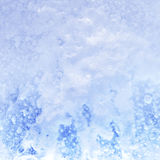 Ice crystals. Snow on the ice. Abstract background. Close-up Royalty Free Stock Images