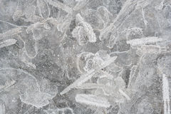 Ice crystals. Slab of ice crystals from close Royalty Free Stock Photography
