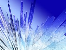Ice crystals. Abstract illustration of ice crystals background Royalty Free Stock Photography
