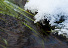 Ice crystals above the water. This is image of ice crystals above the water Stock Image