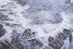 Ice crystals abstract Royalty Free Stock Photography