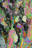 Ice crystals background. Colorful ice crystals under polarized light Royalty Free Stock Photography