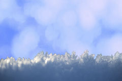 Ice crystals on blue abstract background Royalty Free Stock Image